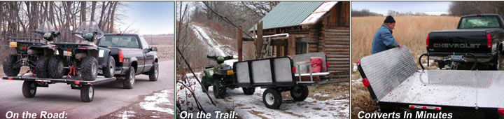 Off-Road Convertible ATV Trailer